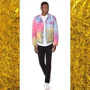 Levi's Multicolor Tie Dye Denim Trucker Jacket